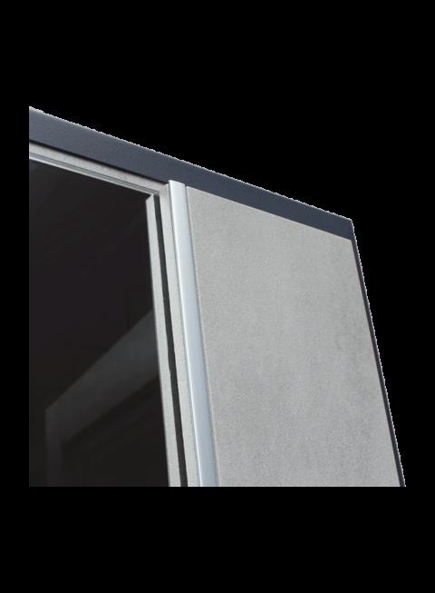 Дверь входная АСД Дуэт Б с зеркалом молдинг