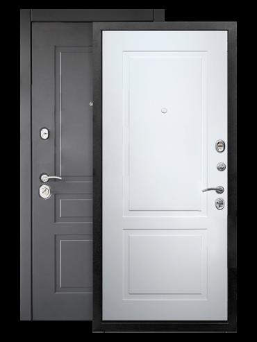 Дверь входная Лорд 2К белый матовый RAL 9003, внутри