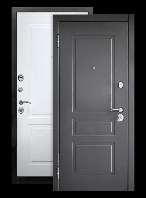 Дверь входная Лорд 2К белый матовый RAL 9003, снаружи