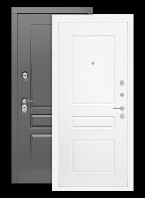 Дверь входная Платинум 03 белый софт, изнутри