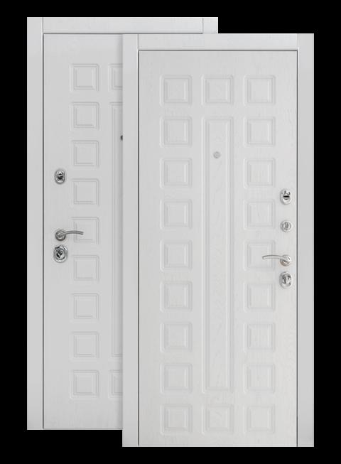 Дверь входная S01 2К альберо браш грей, изнутри
