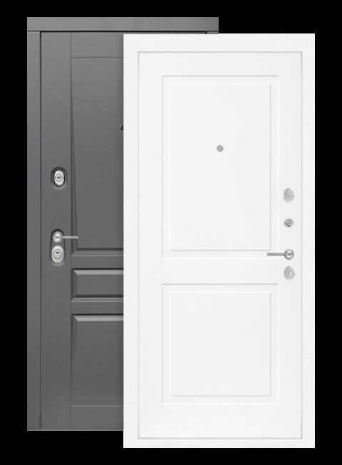 Входная дверь Платинум 11 белый софт, изнутри