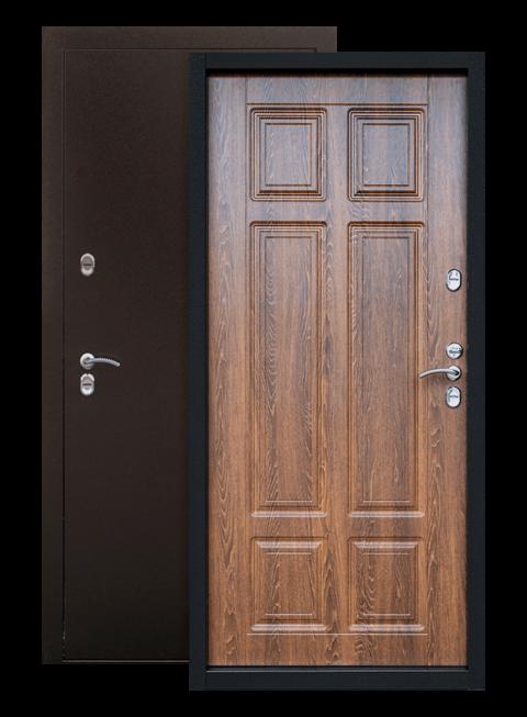 Входная дверь Сибирь ТЕРМО дуб филадельфия коньяк, внутри