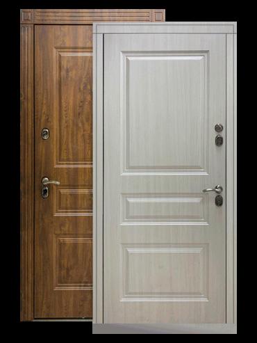 Входная дверь Сибирь ТЕРМО Премиум белая лиственница, внутри