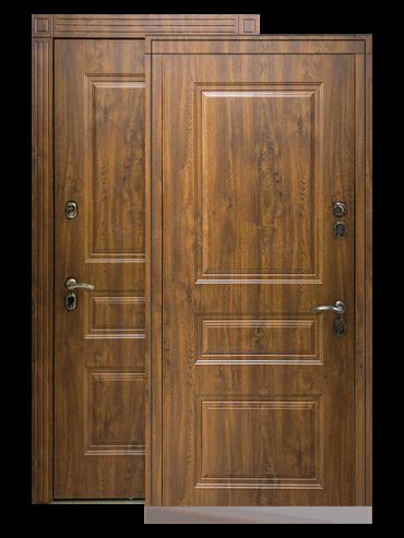 Входная дверь Сибирь ТЕРМО Премиум тёмный дуб, внутри