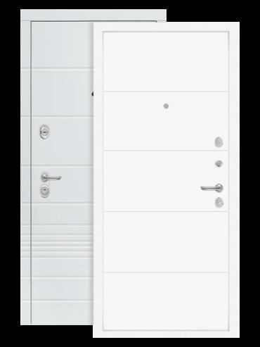 Входная дверь Трендо 13 белый софт, внутри