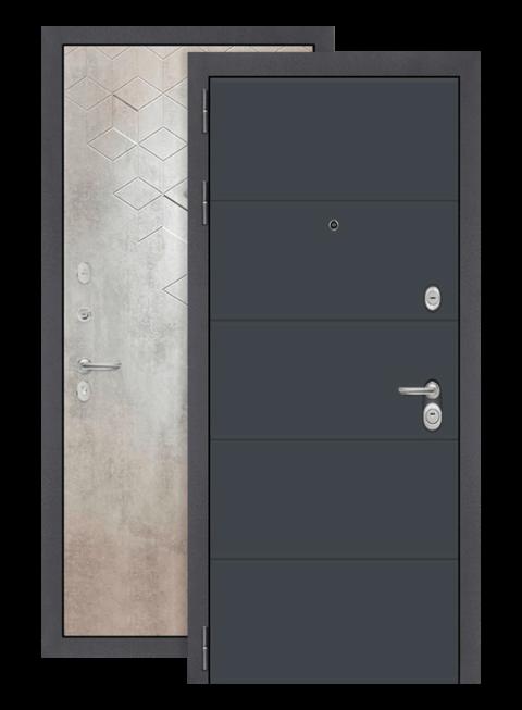 Дверь входная Арт графит 13 Бетон лофт грей, снаружи