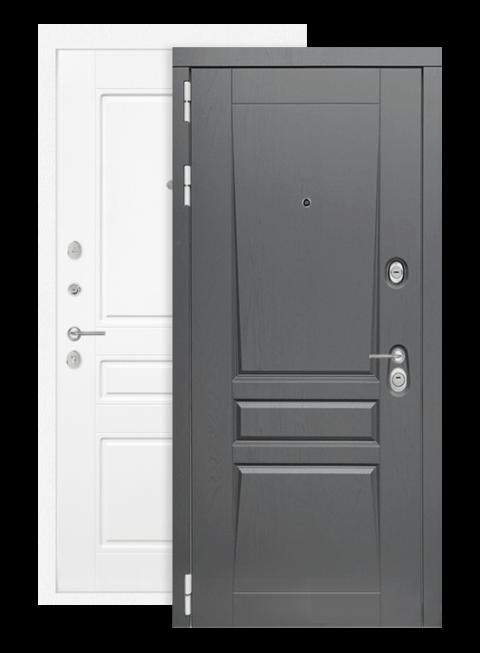 Дверь входная Платинум 03 белый софт, снаружи