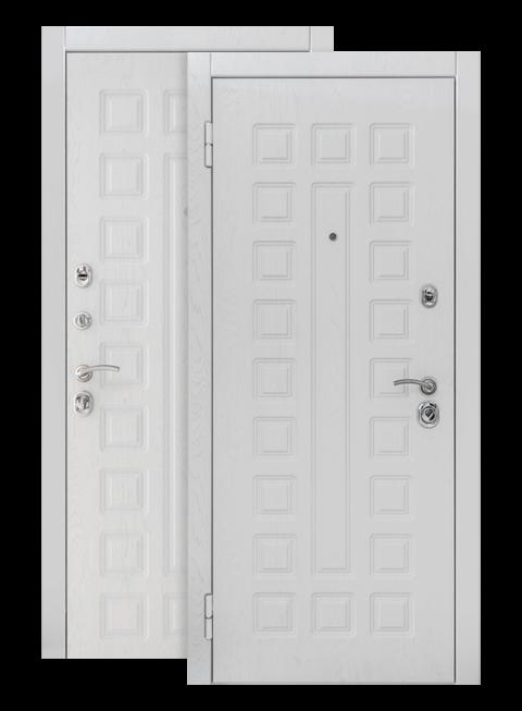 Дверь входная S01 2К альберо браш грей, снаружи