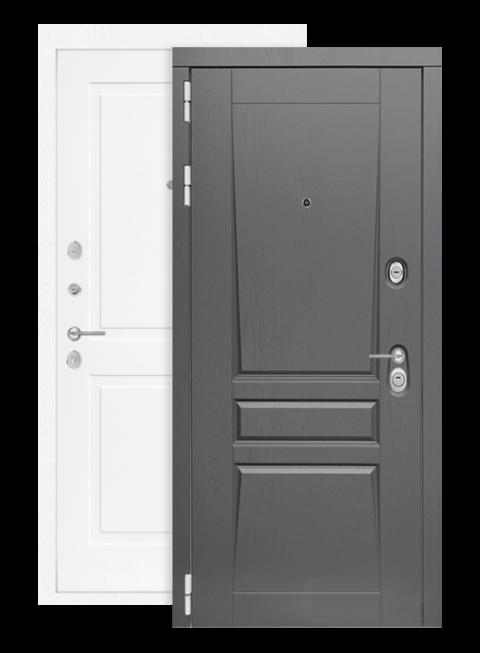 Входная дверь Платинум 11 белый софт, снаружи
