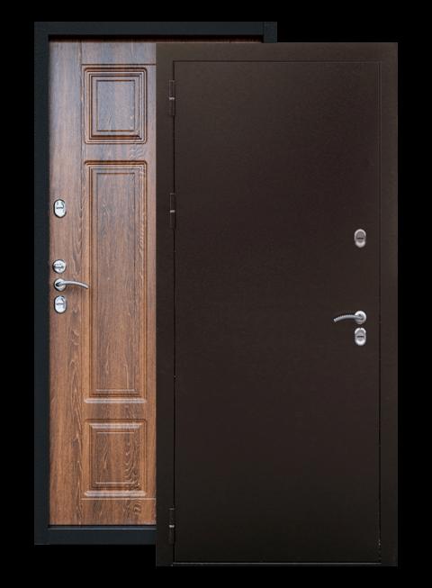 Входная дверь Сибирь ТЕРМО дуб филадельфия коньяк, снаружи