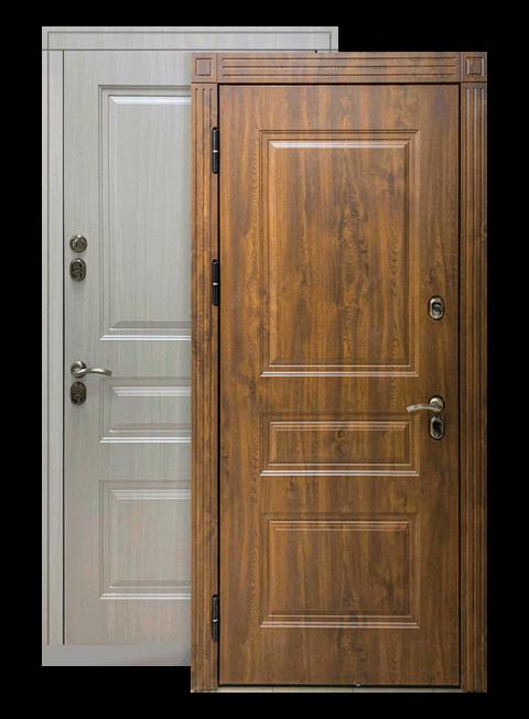 Входная дверь Сибирь ТЕРМО Премиум белая лиственница, снаружи