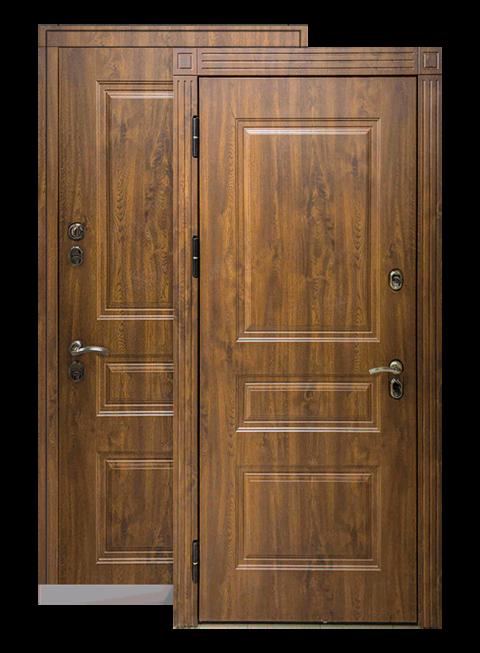 Входная дверь Сибирь ТЕРМО Премиум тёмный дуб, снаружи