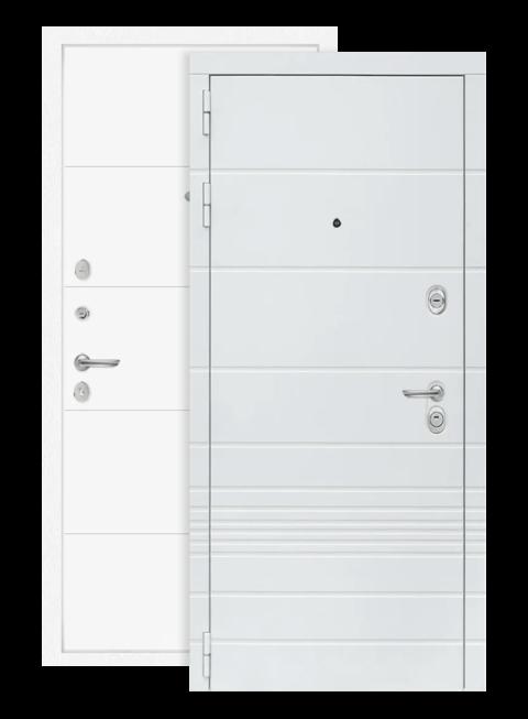 Входная дверь Трендо 13 белый софт, снаружи