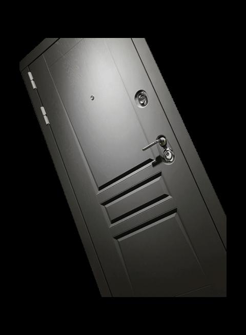 Дверь входная Платинум, панель альберо грей