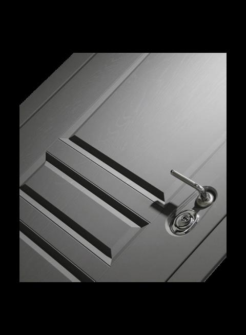 Дверь входная Платинум, панель с замком