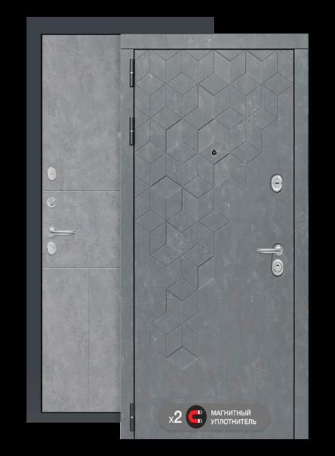 Входная дверь Бетон 21 бетон светлый, снаружи