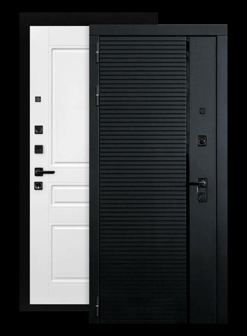 Входная дверь Piano 03 белый софт (снаружи)