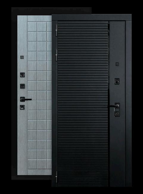 Входная дверь Piano 09 лен сильвер грей (снаружи)