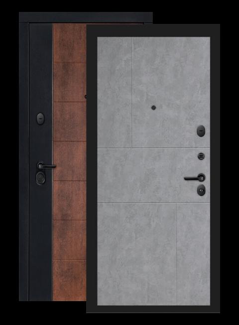 Входная дверь Техно 21 бетон светлый , внутри