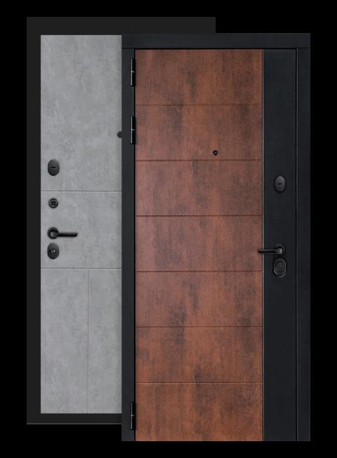 Входная дверь Техно 21 бетон светлый , снаружи